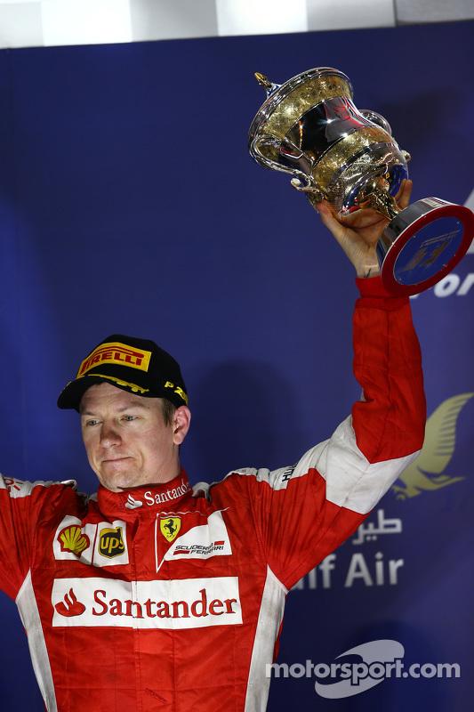 posisi kedua Kimi Raikkonen, Ferrari