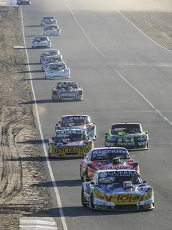 Luis Jose di Palma, Indecar Racing, Torino; Christian Ledesma, Jet Racing, Chevrolet; Nicolas Bonelli, Bonelli Competicion, Ford, und Mauro Giallombardo, Maquin Parts Racing, Ford