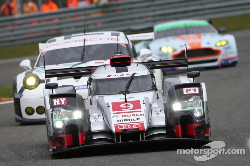 #9 Audi Sport Team Joest Audi R18 e-tron quattro Hybrid: Філіпе Альбукерке, Марко Бонаномі, Рене Раст