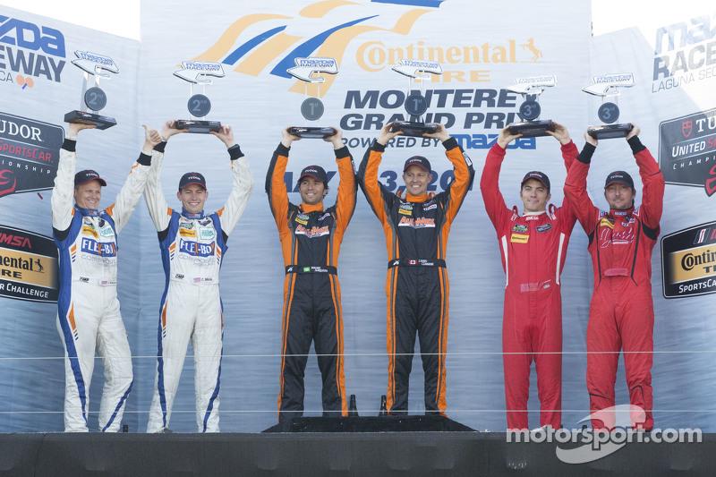 PC Podium: Race winners #11 RSR Racing Oreca FLM09 Chevrolet: Chris Cumming, Bruno Junqueira, Second