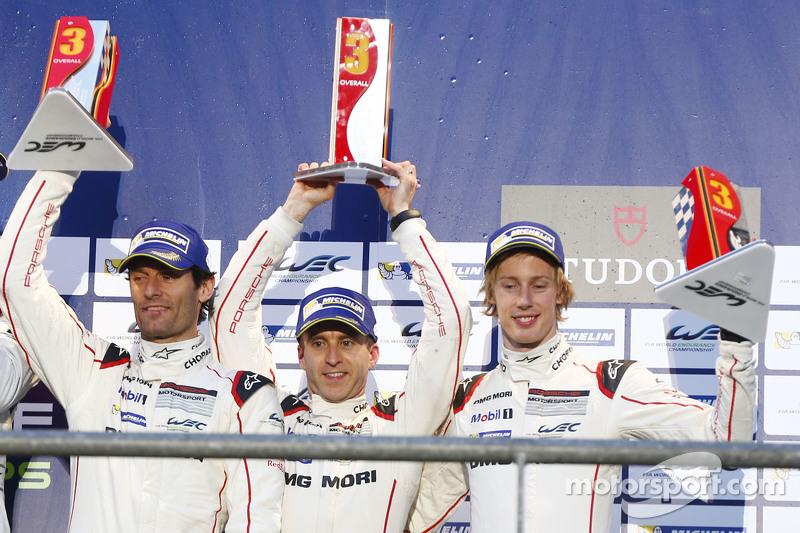 Podium: 3. Mark Webber, Timo Bernhard, Brendon Hartley
