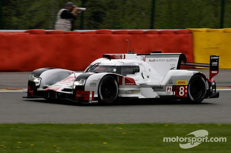 #8 Audi Sport Team Joest, Audi R18 e-tron quattro Hybrid: Lucas di Grassi, Loïc Duval, Oliver Jarvis