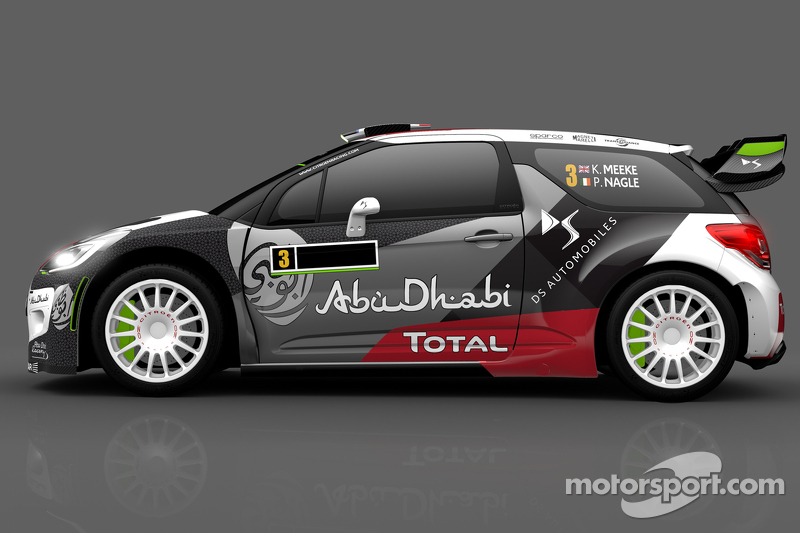 Ліврея для Кріс Міке та Пол Негл, Citroën DS3 WRC, Citroën World Rally Team