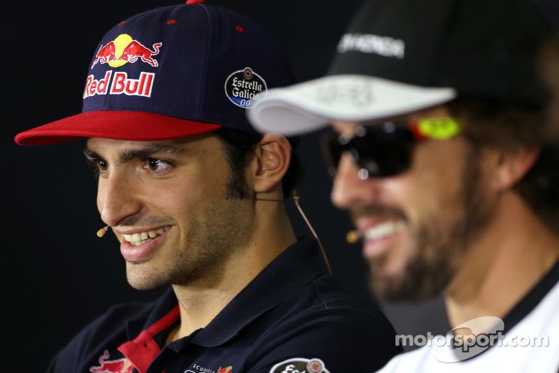 Карлос Сайнс мол., Scuderia Toro Rosso та Фернандо Алонсо , McLaren Honda