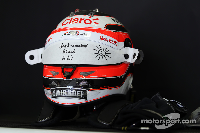 Der Helm von Nico Hülkenberg, Sahara Force India F1