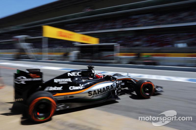 Ніко Хюлкенберг, Sahara Force India F1 VJM08 залишає бокси