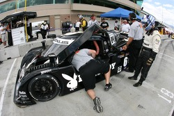 Playboy Racing/ Mears crew members at work