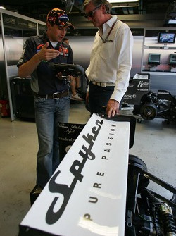 Christijan Albers and Victor R. Muller, Chief Executive Officer of Spyker Cars N.V. and Spyker MF1 R