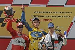 Podium: 1. Valentino Rossi, 2. Loris Capirossi, 3. Dani Pedrosa
