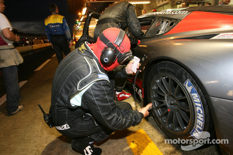 Russian Age Racing team member at work