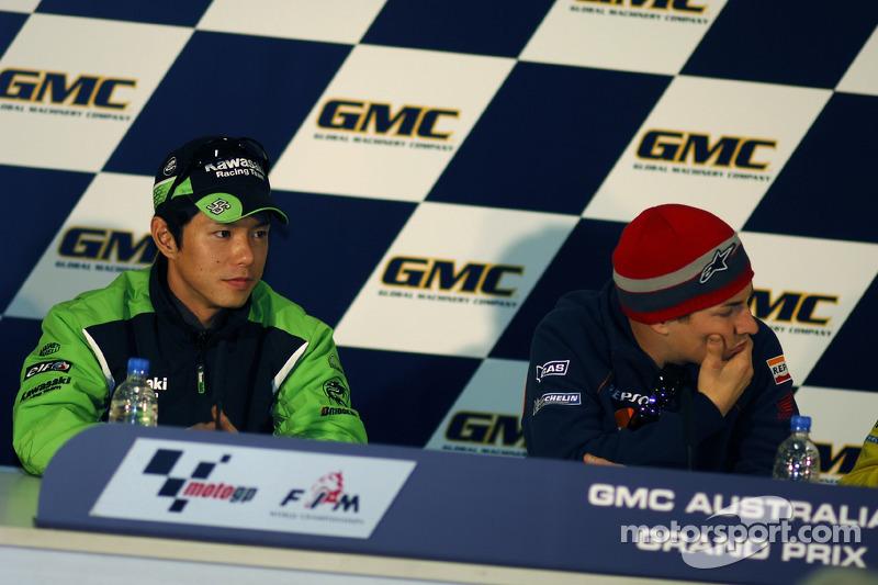 Conferencia de prensa: Ganador Polo Nicky Hayden con Shinya Nakano