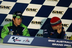 Press conference: pole winner Nicky Hayden with Shinya Nakano