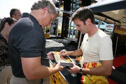 Romain Dumas signs autographs