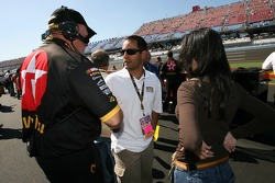 Juan Pablo Montoya and wife Connie at qualifying