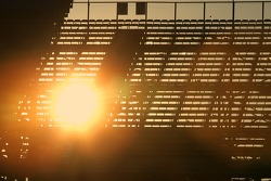 Sunset trough the grandstands