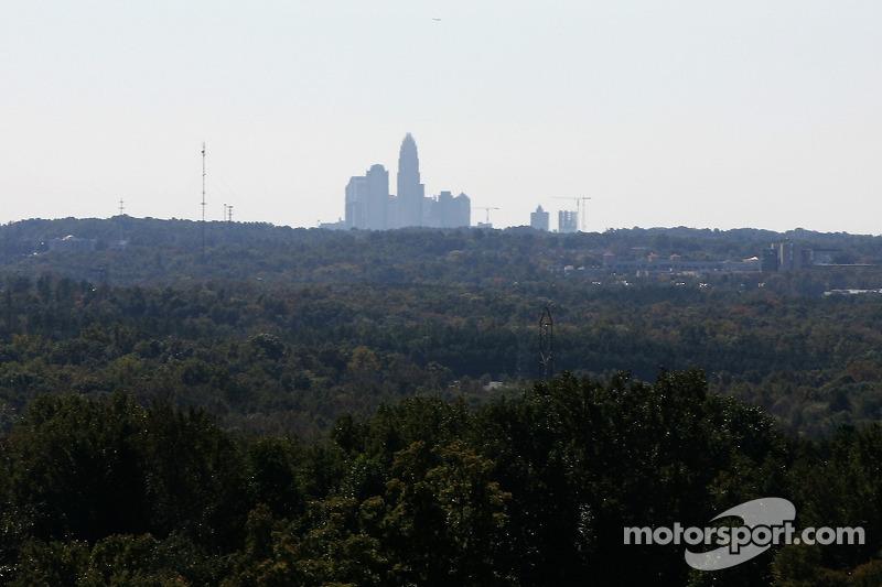 Une vue de Charlotte depuis la piste