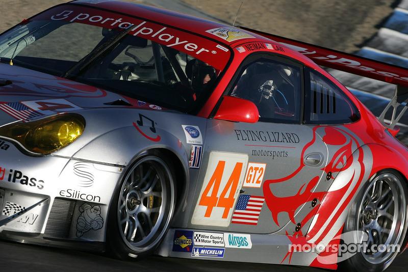 #44 Flying Lizard Motorsports Porsche 911 GT3 RSR: Seth Neiman, Darren Law
