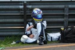 Nico Rosberg after his crash