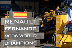 Renault F1 pit area after the celebrations