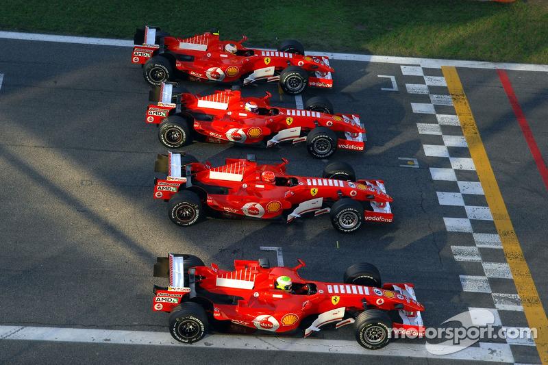 Felipe Massa, Michael Schumacher, Marc Gene ve Luca Badoer