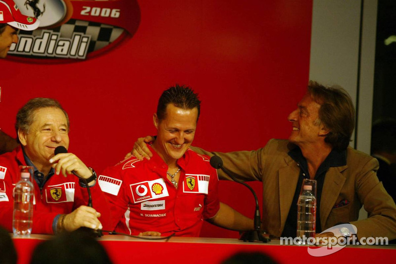 Conférence de presse : Jean Todt, Michael Schumacher et Luca di Montezemolo