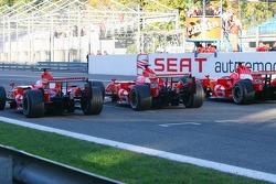 Luca Badoer, Marc Gene and Michael Schumacher