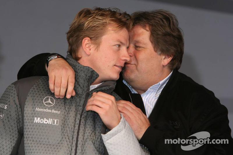 Kimi Räikkönen et Norbert Haug
