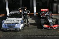 Valentino Rossi mit dem Mercedes-Benz AMG DTM und mit dem McLaren Mercedes MP4-20