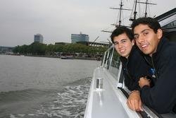 Salvador Duran with Sergio Perez