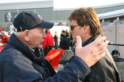 John Surtees, Team Manager of A1Team Great Britain with Rick Weidinger, Seat Holder of A1Team USA