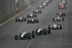 Pace lap: Kamui Kobayashi leads the field