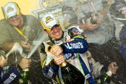 Championship victory lane: champagne for 2006 NASCAR Nextel Cup champion Jimmie Johnson