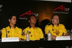 A1GP press conference: Alex Yoong, Fairuz Fauzy and Jack Cunningham