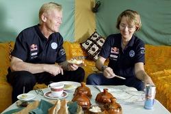 Volkswagen Motorsport test in Morocco: Ari Vartanen and Fabrizia Pons