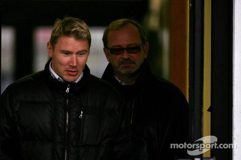 Mika Hakkinen ve menajeri Didier Coton