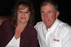 NASCAR Champions in New York: NASCAR Whelen Southern Modified Tour champion Junior Miller and his wife, Kim, at Del Posto restaurant in New York