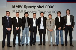 Dr Mario Theissen with the Formula BMW drivers