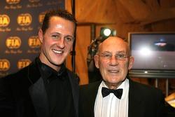 Michael Schumacher and Sir Stirling Moss