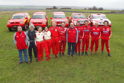 Team Dessoude presentation: drivers and co-drivers pose