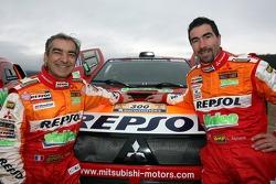 Team Repsol Mitsubishi Ralliart shakedown presentation: Gilles Picard and Luc Alphand