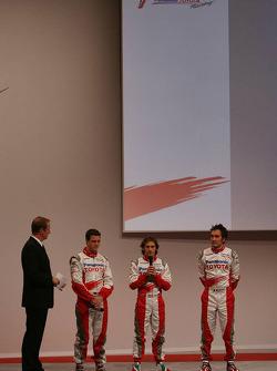 Ralf Schumacher, Jarno Trulli and Franck Montagny
