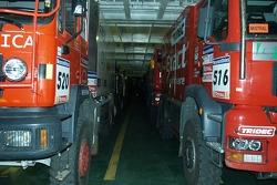 Truck on board the ferryboat
