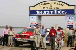 Car category podium: Miguel Barbosa and Miguel Ramalho