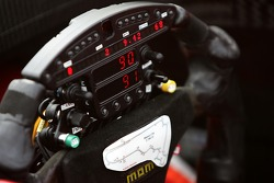 Steering wheel of Justin Wilson