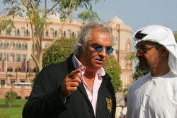 Flavio Briatore, Renault F1 Team, Team Chief, Managing Director and His Highness Sheikh Mohammed Bin Zayed Al Nahayan