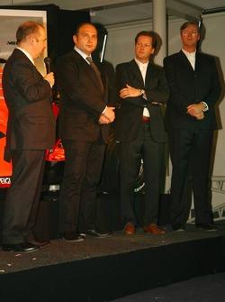 Mike Gascoyne; Colin Kolles; Michiel Mol; Victor Muller, Spyker-Ferrari