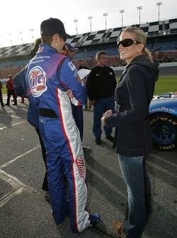 Kurt Busch with wife Eva