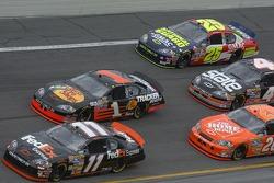 Denny Hamlin, Martin Truex, Dale Earnhardt Jr., Ward Burton, Casey Mears