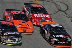 Ricky Rudd, Jeff Burton, Denny Hamlin and Carl Edwards