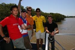 Moreno Soeprapto, Tomas Enge, Jeroen Bleekemolen, Alex Yoong and Alan van der Merwe